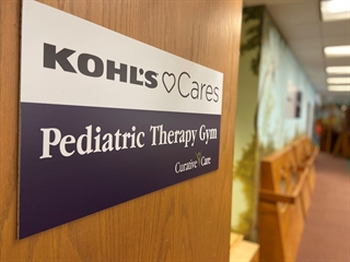 Kohl's Cares Pediatric Therapy Gym sign